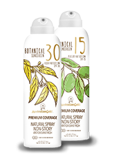 Botanical Sunscreen SPF 15-30 broad high and medium protection